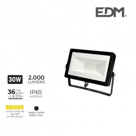 Foco proyector led 30w 4000k 2000 lumens edm