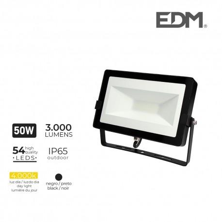 Foco proyector led 50w 4000k 3000 lumens edm