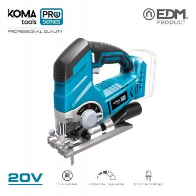 Caladora 20v (sin bateria y cargador) koma tools pro series battery edm