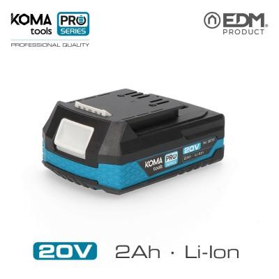 Bateria litio 20v 2.0 ah koma tools pro series battery edm