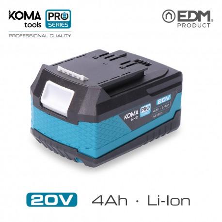 Bateria litio 20v 4.0 ah koma tools pro series battery edm