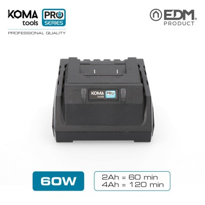 Cargador bateria 60w koma tools pro series battery edm