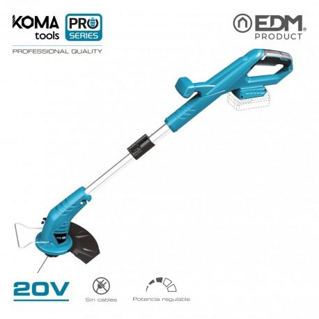 Recortabordes 20v (sin bateria y cargador) koma tools pro series battery edm