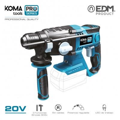 Martillo percutor 20v (sin bateria y cargador) koma tools pro series battery edm