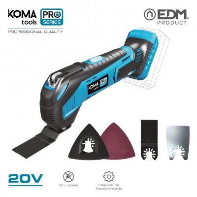 Multiherramienta 20v (sin bateria y cargador) koma tools pro series battery edm