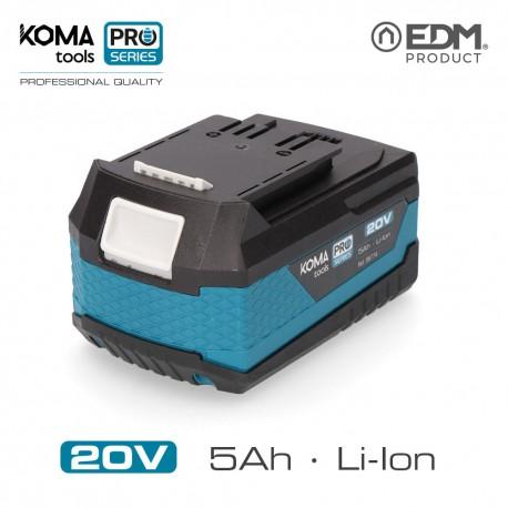 Bateria litio 20v 5.0ah koma tools pro series battery edm