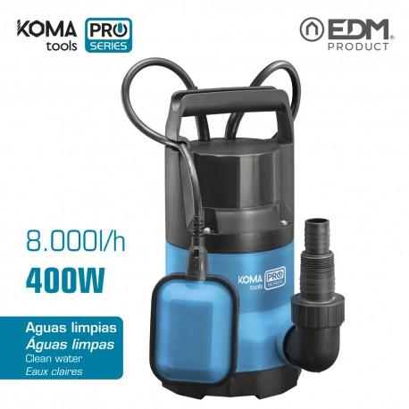 Bomba 400w agua limpia koma tools