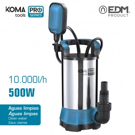 Bomba 500w inox agua limpia koma tools