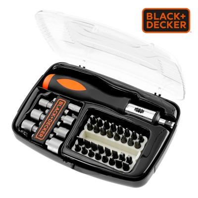 *s.of* juego de 40 piezas para atornillar con atornillador de carraca a7062-xj black+decker