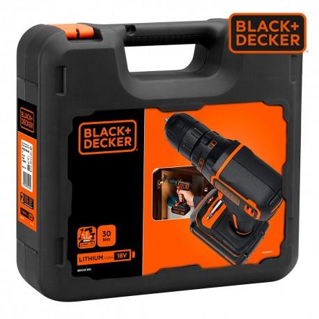 *s.of* taladro atornillador 18v bdcdc18k-qw black+decker
