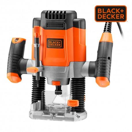 *s.of* fresadora 1200w kw1200eka-qs black+decker