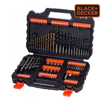 """*s.of* juego de 109 piezas para atornillar y taladrar con brocas """"titanio"""" a7200-xj black+decker"""