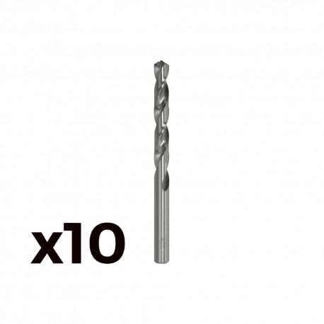 Pack 10 brocas cilind. a.rapido de7.75mm m077
