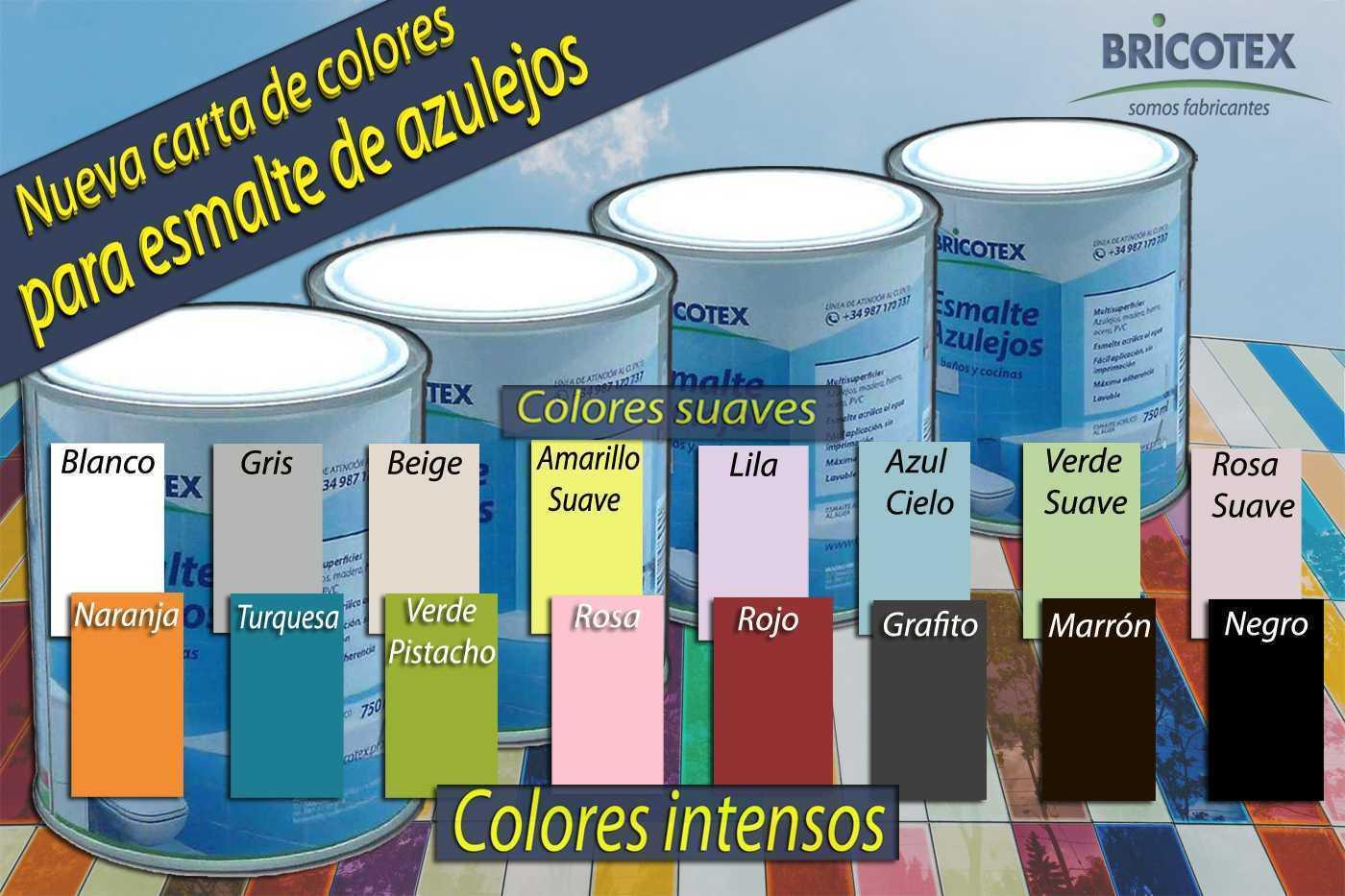 Pintura para Azulejos de Cocina y Baño Satinado Nueva Carta de Colores